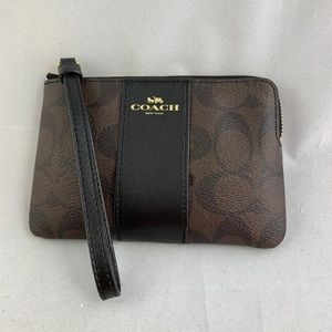 Coach leather wristlet